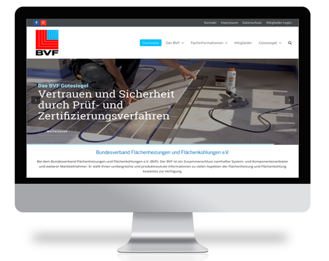 Visualisierung Homepage BVF