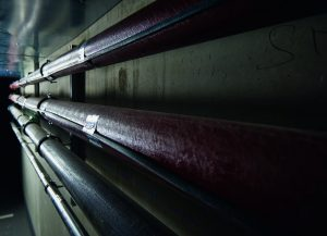 Bei lange anhaltenden, tiefen Temperaturen bieten AEG Rohrbegleitheizungen sicheren Schutz. Im Business Center in Schwabach wurden die Frisch- und Abwasserleitungen im Bereich der Tiefgarage ausgerüstet.