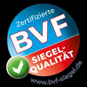 Zertifizierte BVF Siegel-Qualität | www.bvf-siegel.de