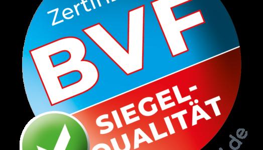 Das BVF-Siegel In Neuem Lock: Es Steht Für Eine Hohe Qualität Sowie Sicherheit Der Systeme Und Komponenten