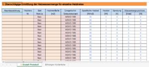"""Screenshot von Tabellenblatt """"Einstell-Protokoll"""""""