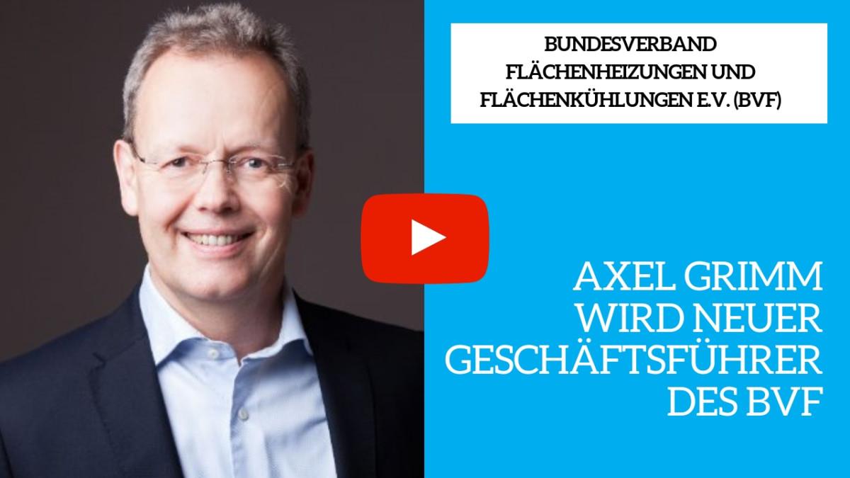 Axel Grimm wird neuer Geschäftsführer beim BVF