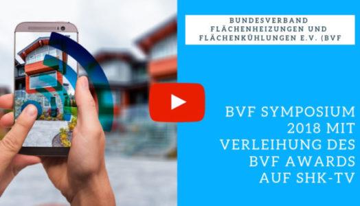 Das BVF Symposium 2018 Mit Verleihung Des BVF Awards Auf SHK-TV