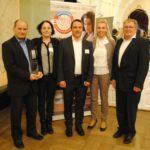 BVF-Award-Gewinner Lindner GFT (v.l.n.r.): Robert Anzenberger, Silke Stöckl, André Scheuring-Mazarin, Carolin Weinzierl, Josef Bielmeier (alle Lindner GFT GmbH)