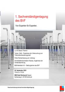 1. Sachverständigentagung des BVF e.V. - von Experten für Experten!