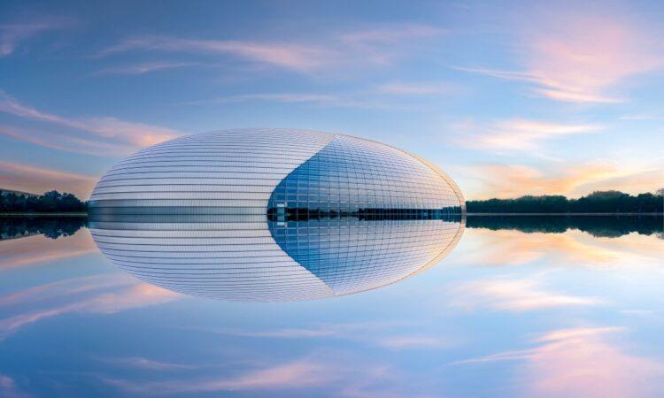 Das UFO Mitten In Peking Mit Flächenheizung- Und -kühlung Von Oventrop