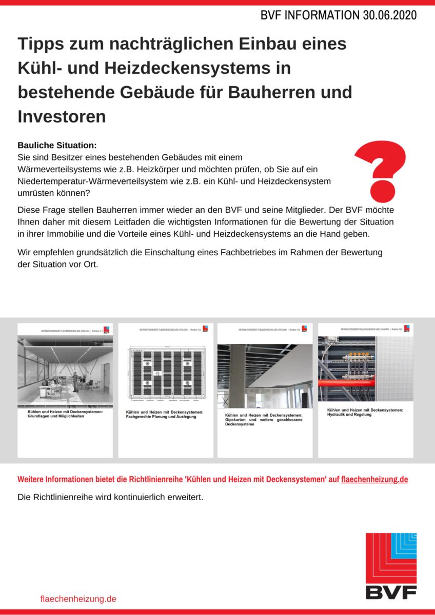 Tipps Zum Nachträglichen Einbau Eines Kühl- Und Heizdeckensystems In Bestehende Gebäude Für Bauherren Und Investoren