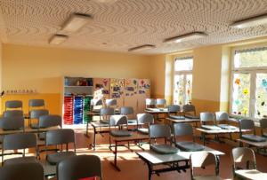 Energetische Sanierung von Schulgebäuden mit der Klimadecke der GeoClimaDesign AG
