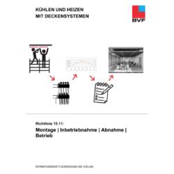 Richtlinie 15.11 - Kühlen und Heizen mit Deckensystemen: Montage | Inbetriebnahme | Abnahme | Betrieb