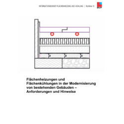 BVF Richtlinie 10: Installation von Flächenheizungen und Flächenkühlungen bei der Modernisierung von bestehenden Gebäuden - Anforderungen und Hinweise.