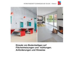 BVF Richtlinie 9: Einsatz von Bodenbelägen auf Flächenheizungen und - kühlungen - Anforderungen und Hinweise